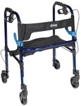 Drive Clever Lite Rollator Walker with 5 in Casters
