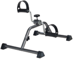 Exercise Peddler with Attractive Silver Vein Finish
