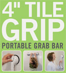 Telescoping Portable Grab Bar 4 Inch Tile Grip