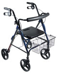 Drive DLite Rollator Walker with 8 in Wheels