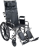 Drive Chrome Sport Reclining Wheelchair