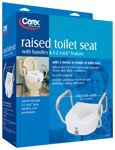 Carex E-Z Lock Raised Toilet Seat with Adjustable Handles