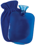 Carex Hot Water Bottle with Fleece Cover