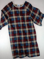 Mens Open Back Gown Flannel