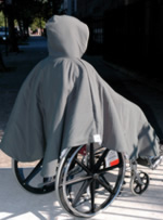 Winter Wheelchair Poncho Short