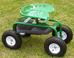 Garden Caddy Tractor Seat on Wheels