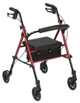 Drive Adjustable Height Rollator with 6 inch Wheels