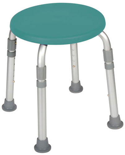 Adjustable Height Bath Stool Teal Product Large Image