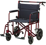 Drive 22 inch Bariatric Transport Chair with 12 inch Wheels