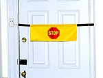 High Visibility Door Alarm Banner with Magnetically Activated Alarm System
