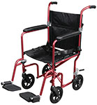 Flyweight Transport Wheelchair with Removable Wheels